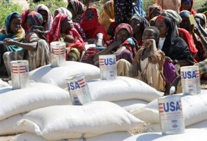 Food aid distribution in Somalia region