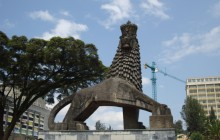 One of Addis Ababa Iconic Monument in front of National Theater
