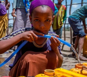 A girl fetching a water-Photo credit US Embassy in Addis Ababa