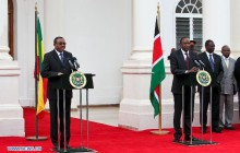 Kenya and Ethiopia leaders press briefing in Nairobi mid June 2016