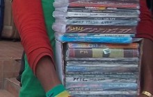 Addis Ababa street Book vendor