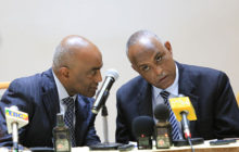 Mathewos Asfaw (left) /Head of the Master Plan project and now commissioner of the master plan office. Abate Sitotaw (Right) deputy manager of Addis Ababa