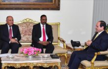 Gebeyehu in Cairo with Sisi