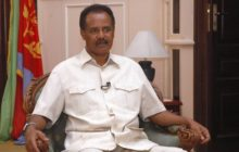 Eritrea's President Isaias Afwerki listens to a question during an interview with Reuters in the capital Asmara