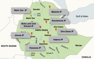 Existing and future Industrial Parks in Ethiopia