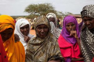 Women affected by drought around Warder Somali region