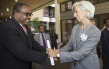 IMF head, Christian Lagarde and PM Hailemariam