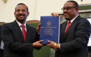 Abiy at parliament